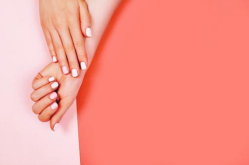 istock Stylish trendy female manicure 1078117208