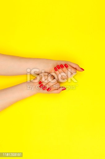1128559926 istock photo Stylish trendy female manicure. 1181203151