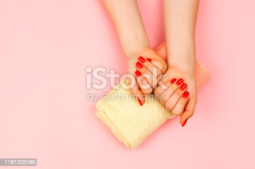 1128559926 istock photo Stylish trendy female manicure. 1181203165
