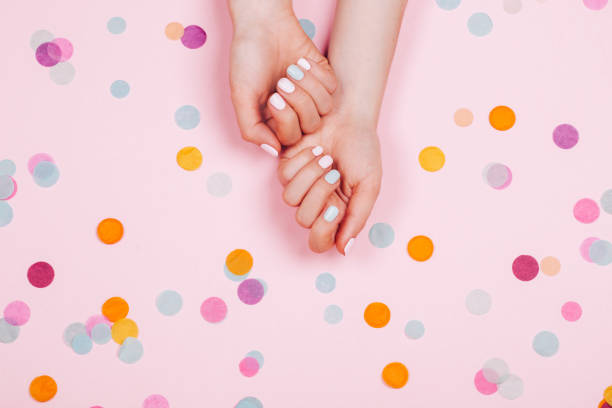 Stylish trendy female manicure stock photo