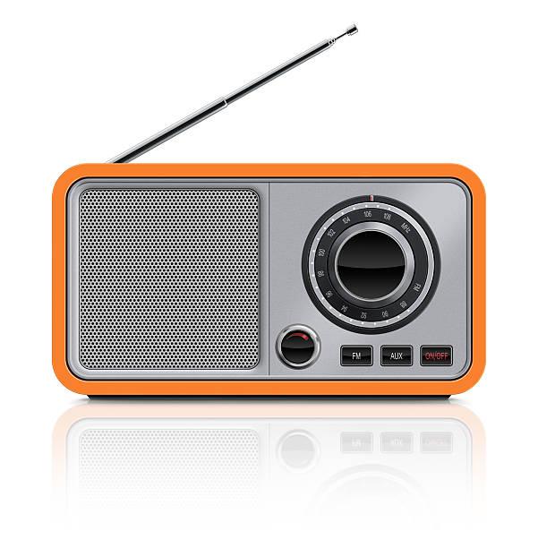elegante tavolo vintage radio - radio foto e immagini stock