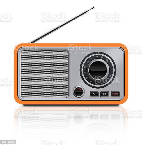 Elegante Vintagetisch Radio Stockfoto und mehr Bilder von Altertümlich