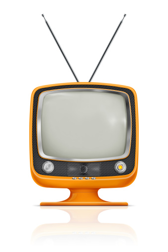 Stylish Vintage Television Stock Photo - Download Image Now