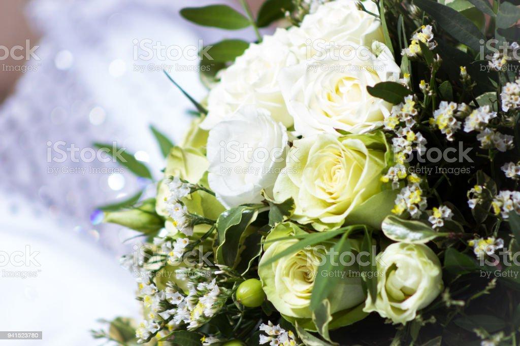 Stylish wedding bouquet stock photo