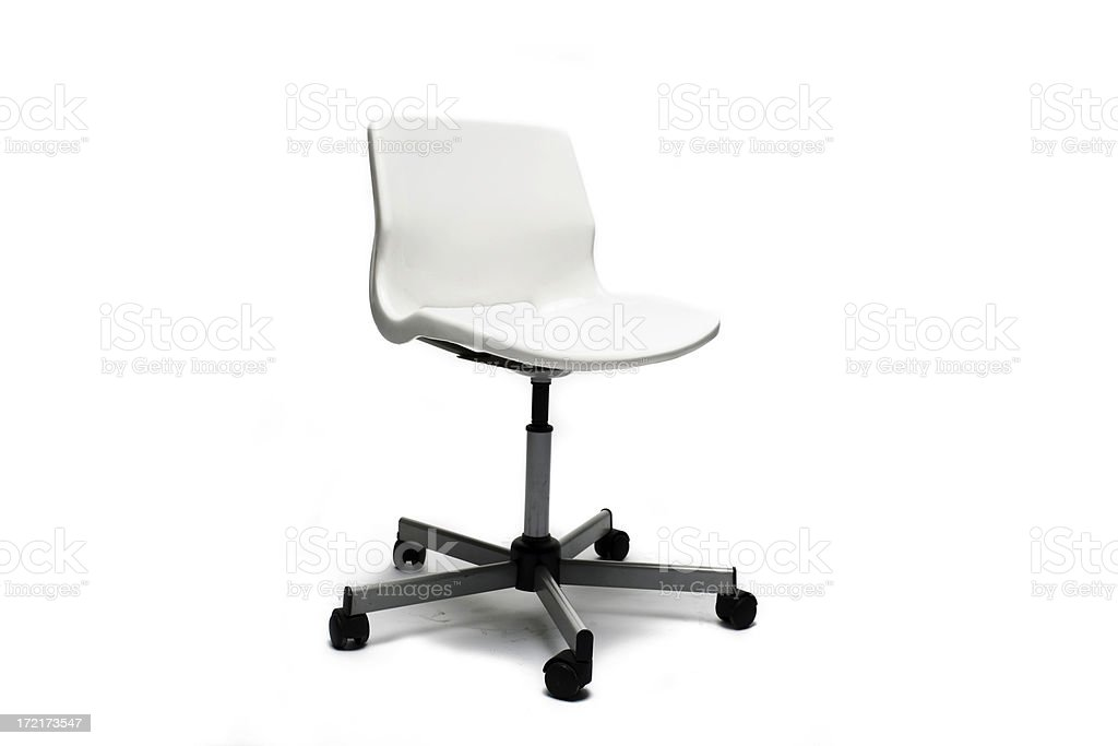 Stylish White office chair royalty-free stock photo