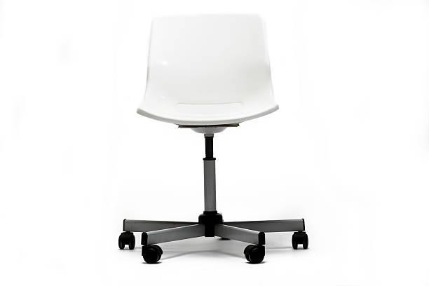 Stylish White office chair stock photo
