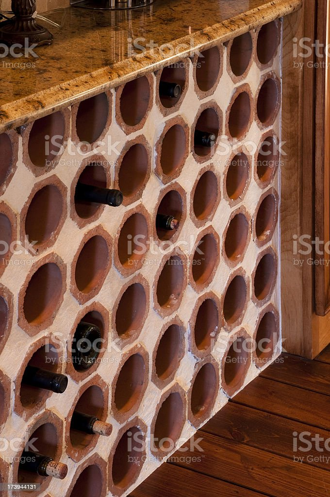 Stylish wine rack royalty-free stock photo