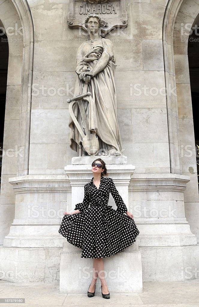 stylish woman in Paris royalty-free stock photo