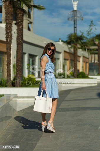 615594632 istock photo Stylish woman with shopping bags 512276040