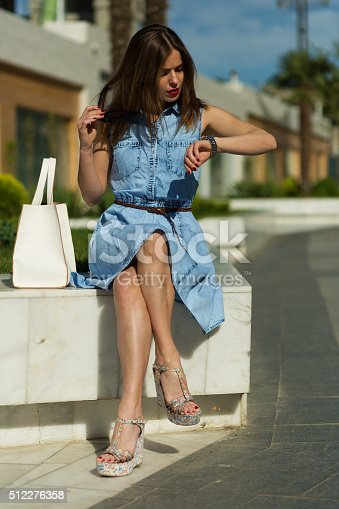 615594632 istock photo Stylish woman with shopping bags 512276358