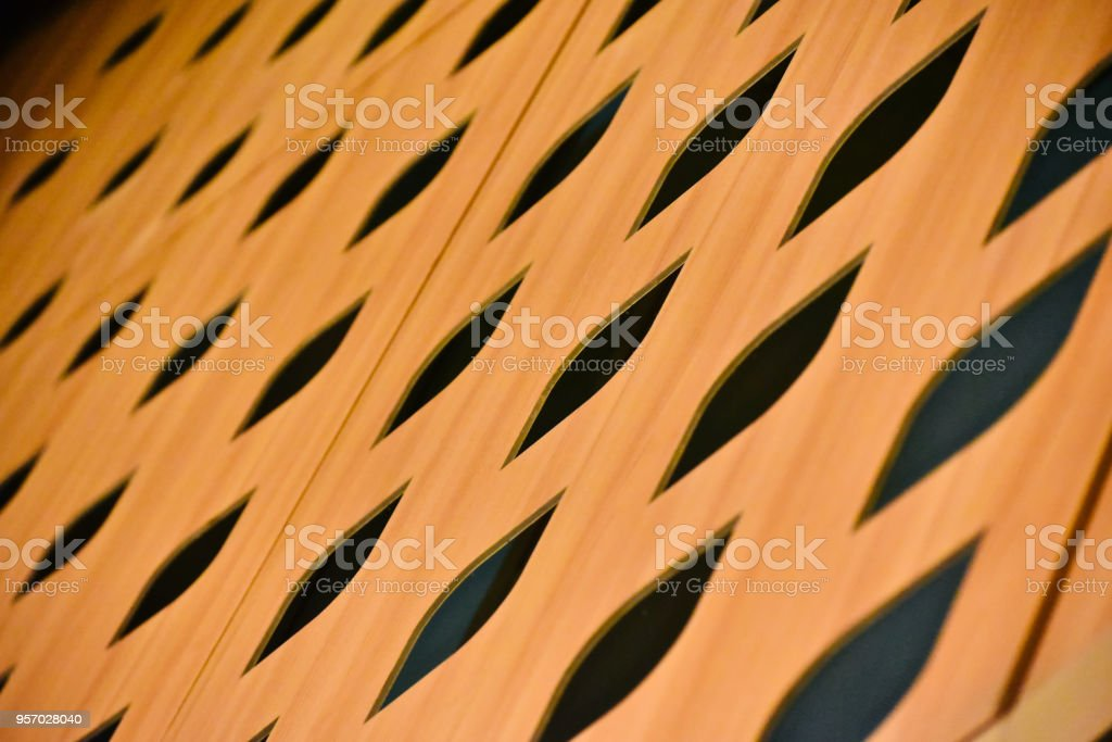 Stylish wooden made structure unique background photo stock photo