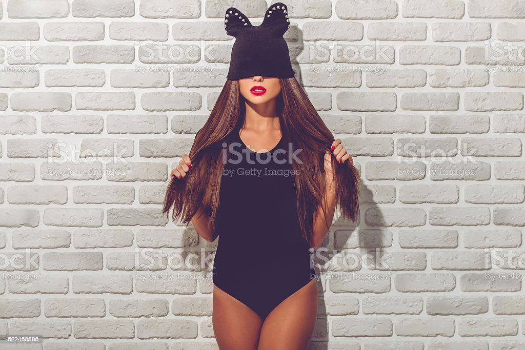 Stylish young girl stock photo