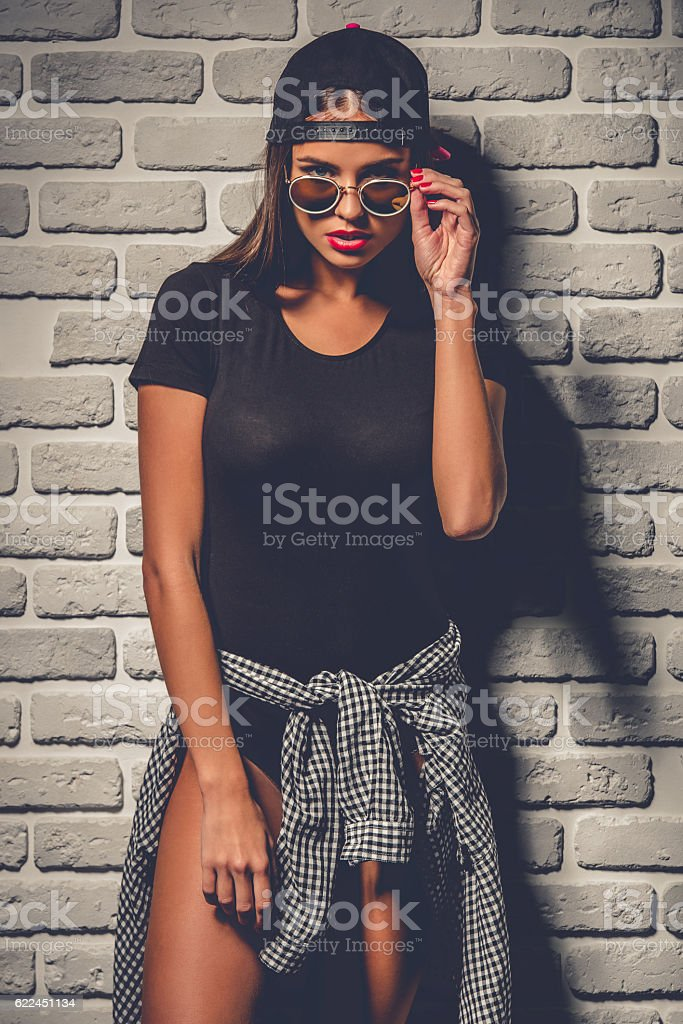 Stylish young girl stock photo