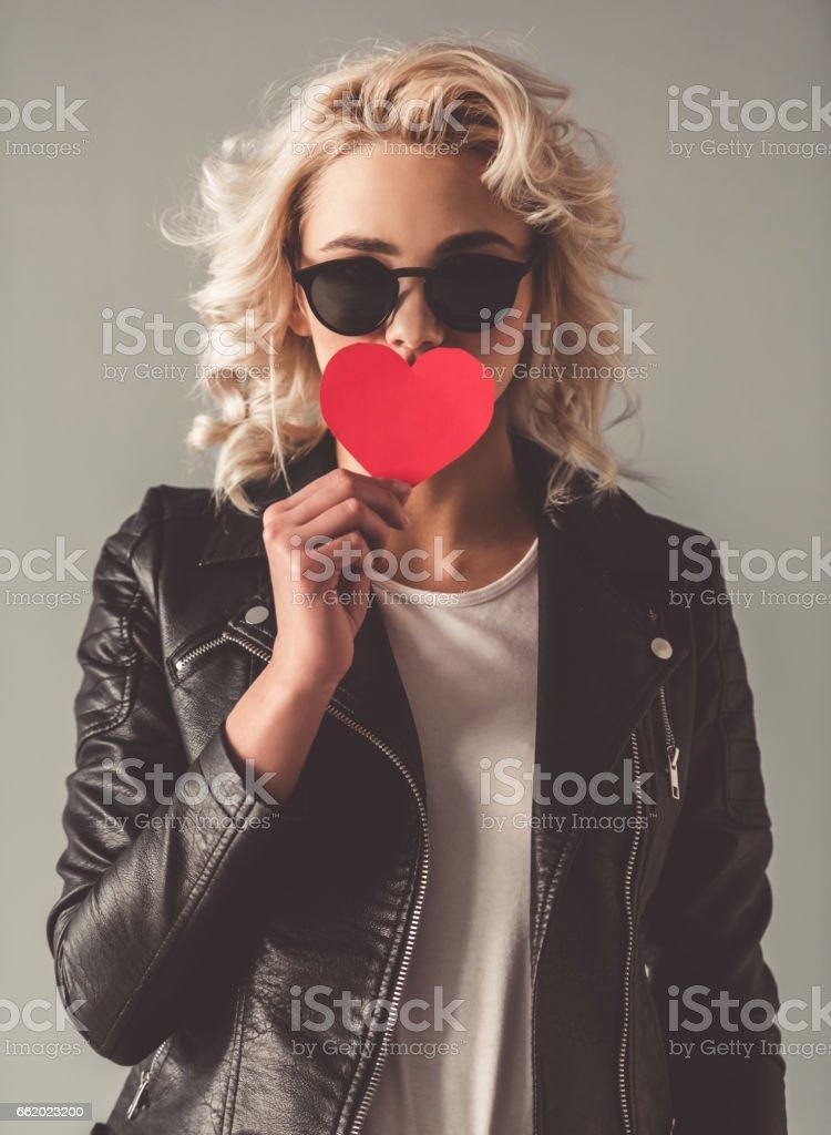 Stylish young girl royalty-free stock photo