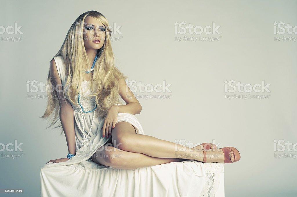 Stylish young lady royalty-free stock photo