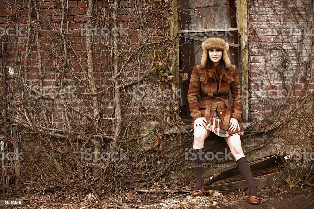 Stylish young woman royalty-free stock photo