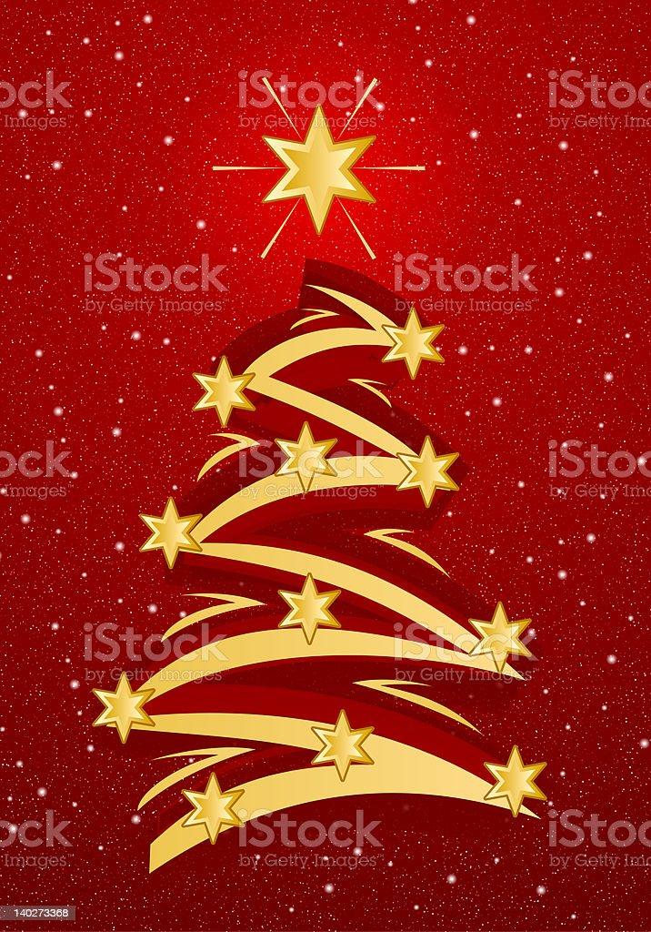 Stylized Christmas Tree Illustation royalty-free stock photo