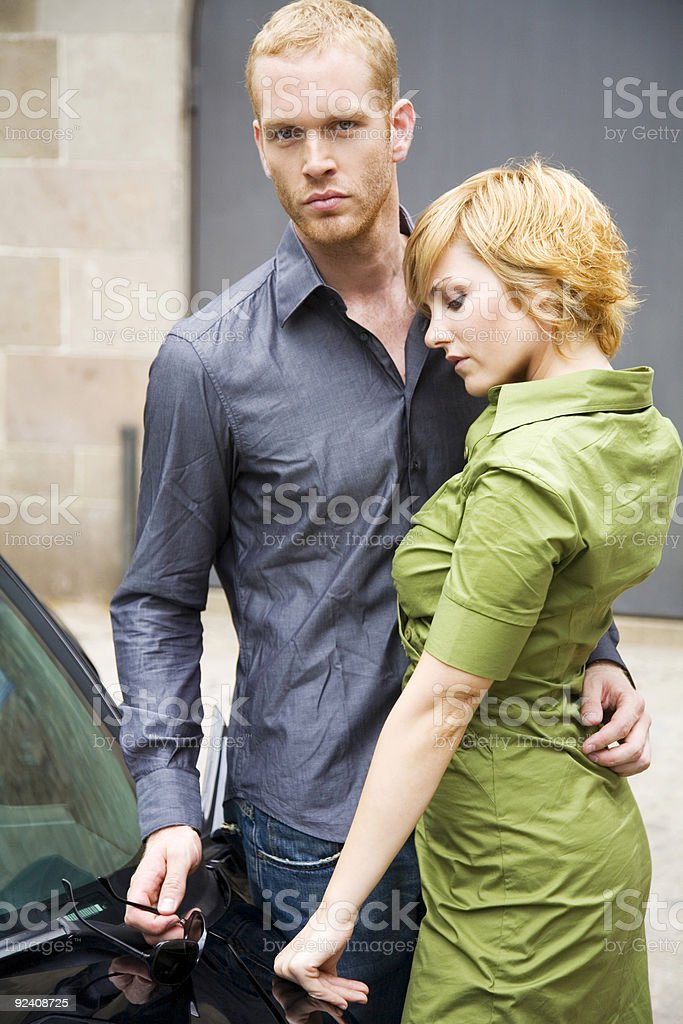Stylized couple royalty-free stock photo