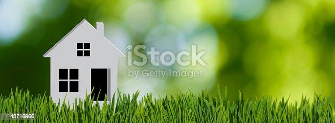 stylized image of a house closeup