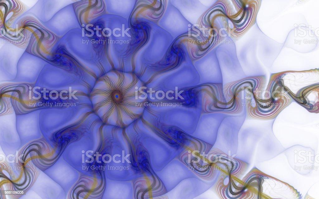Imágenes estilizadas de flores y líneas espirales que se cruzan. Abstracta fondo de células triángulo ampliada, de la imagen. Formas geométricas, orgánicas. El mundo invisible. - Foto de stock de ADN libre de derechos