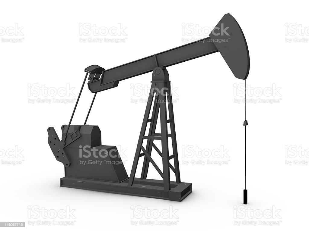 Stylized Oil Pump royalty-free stock photo