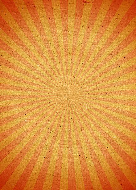 Stylisé papier orange rayé fond avec vignette - Photo
