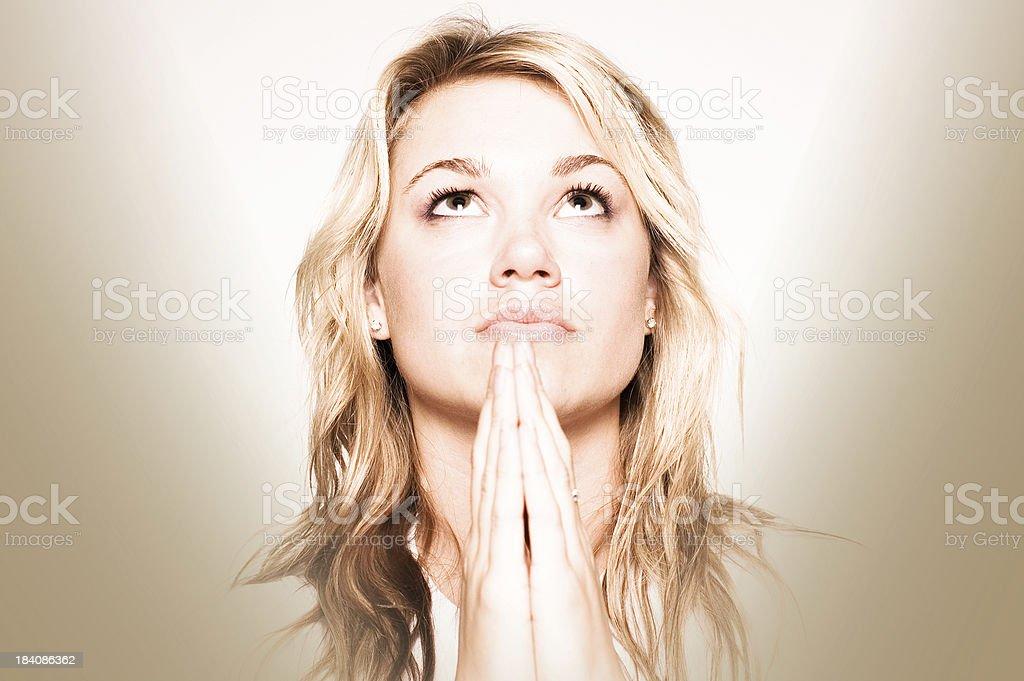 Stylized Prayer Horizontal Focus stock photo