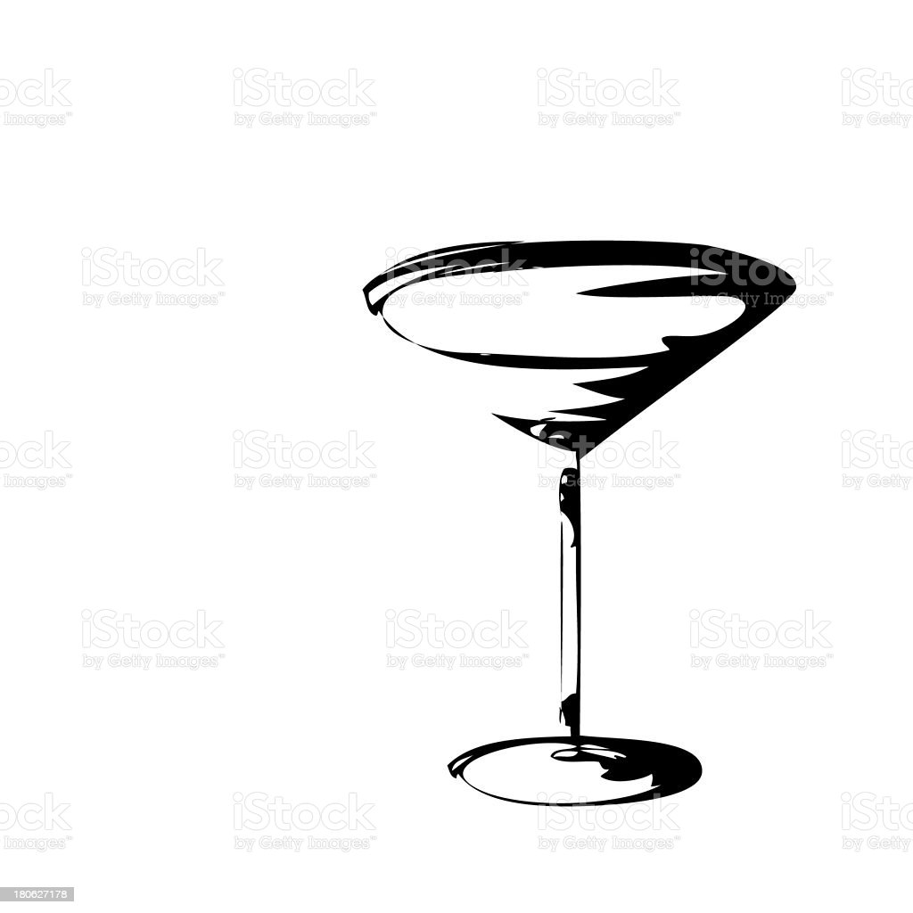 Stylized Wineglass For Fault royalty-free stock photo