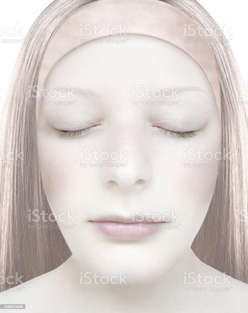 Stylized woman face. stock photo