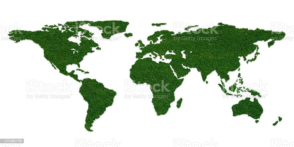 Stylized world map with grass on continents stock photo istock stylized world map with grass on continents royalty free stock photo sciox Image collections