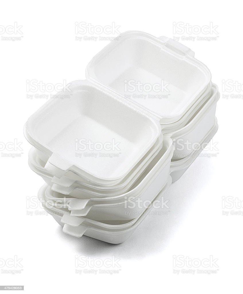 Styrofoam Boxes stock photo