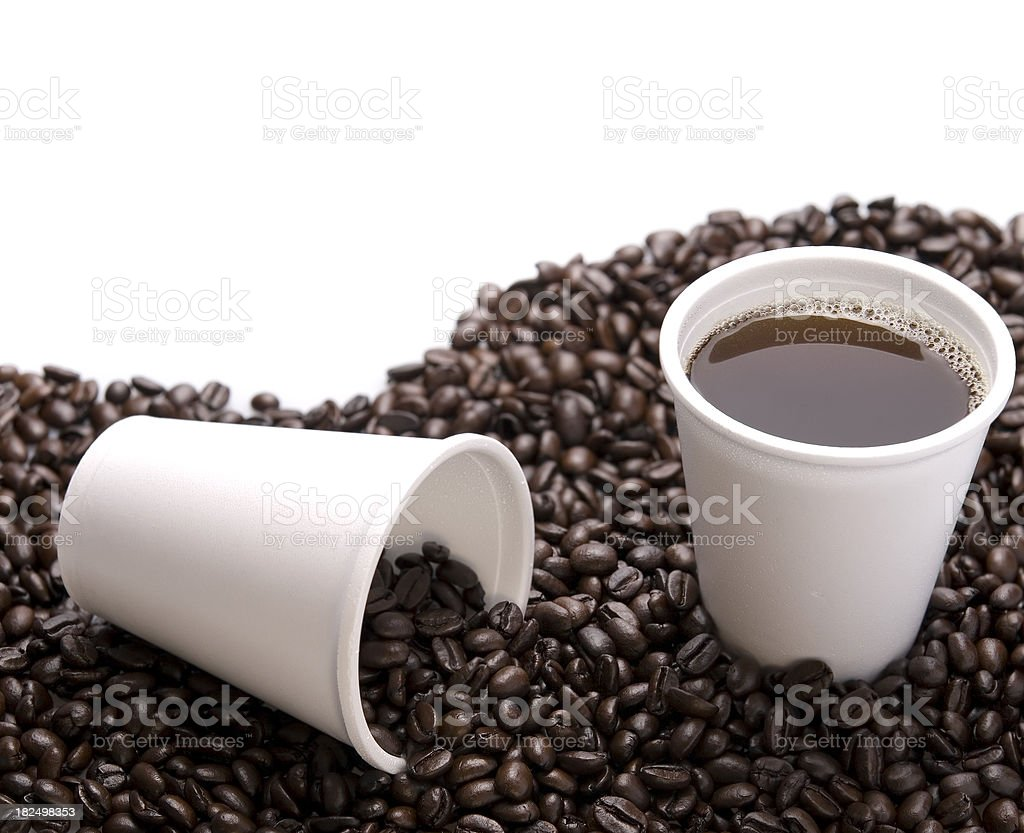 styrofoam coffee cup royalty-free stock photo