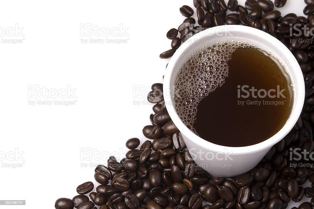 styrofoam coffee cup stock photo