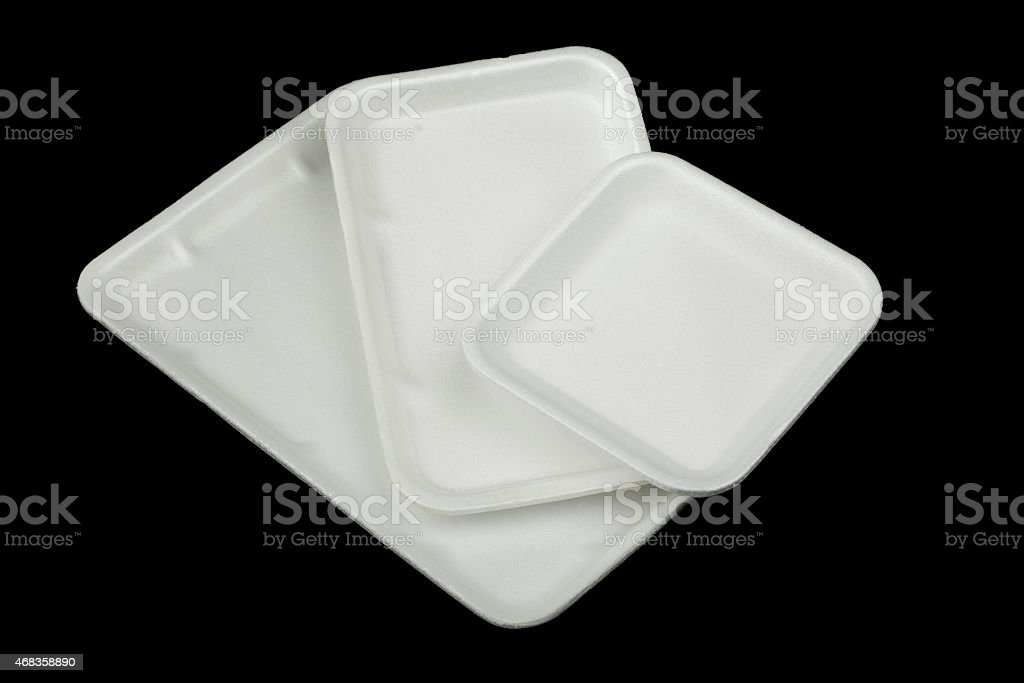 Styrofoam containers royalty-free stock photo