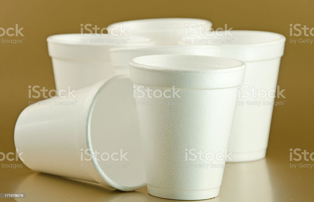 Styrofoam recipientes - foto de stock