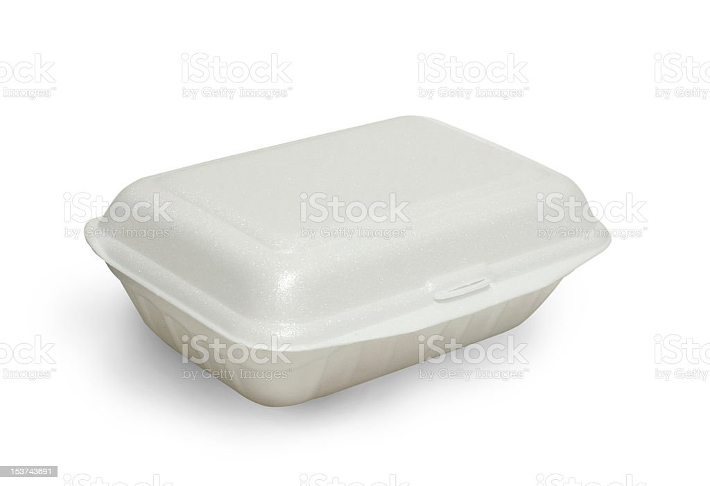 Styrofoam meal box royalty-free stock photo