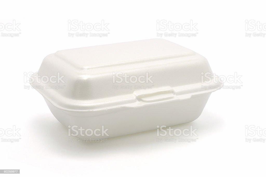 Styrofoam meal box royalty-free stock photo