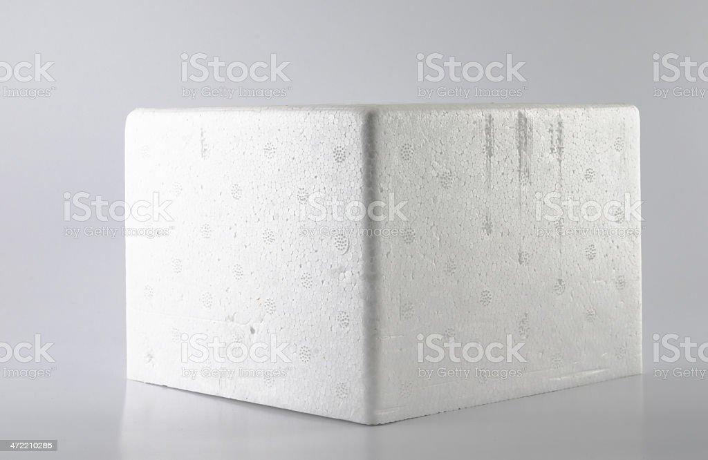 Styrofoam storage box,studio set stock photo