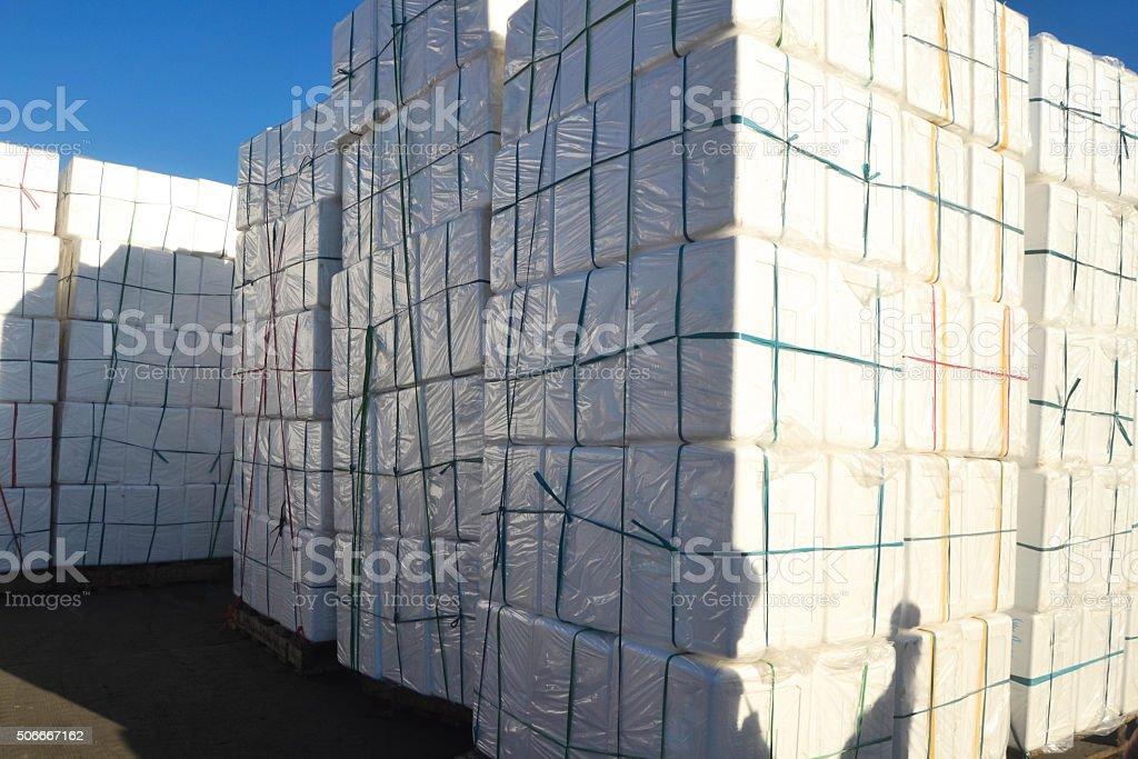 Styropor boxes photo stock photo