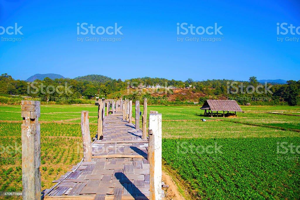Su Tong Pae bridge, Mae Hong Son, Thailand royalty-free stock photo