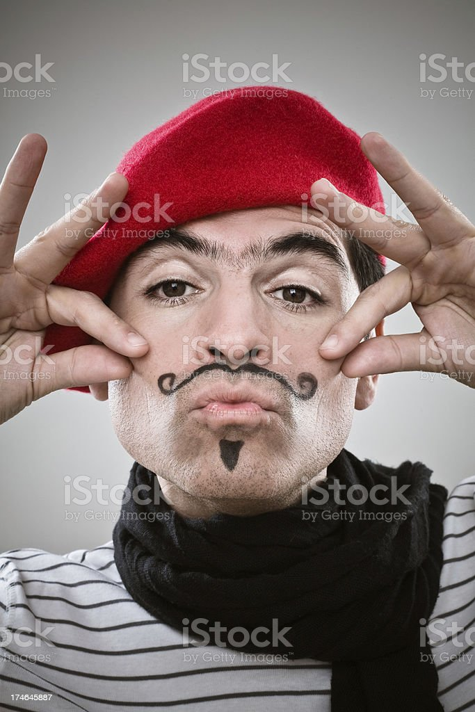 Suave Frenchman royalty-free stock photo