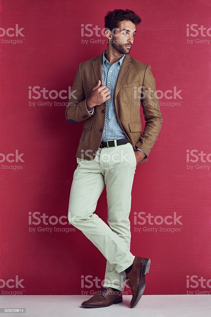 Suave is an understatement stock photo