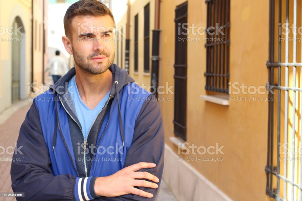 Suave Male Portrait Isolated With Copy Space Stock Photo More