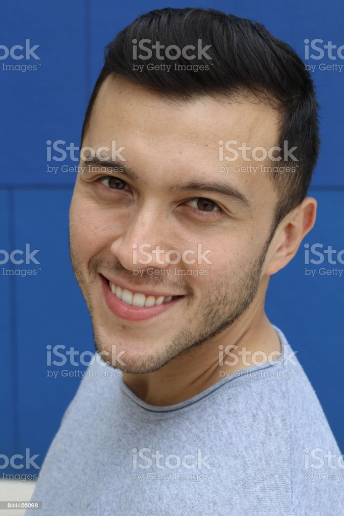 Suave male smiling portrait isolated stock photo