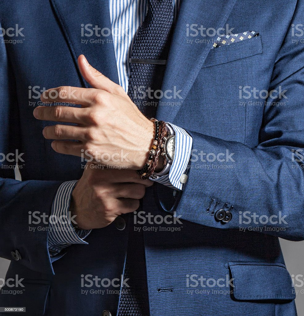 Suave modern man in casual style stock photo