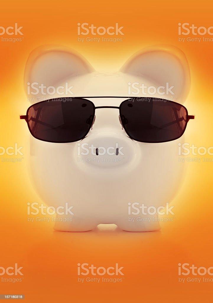 suave piggy bank royalty-free stock photo