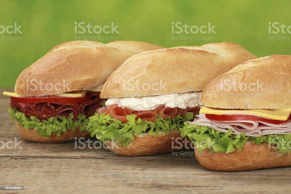 Sub Sandwiches royalty-free stock photo