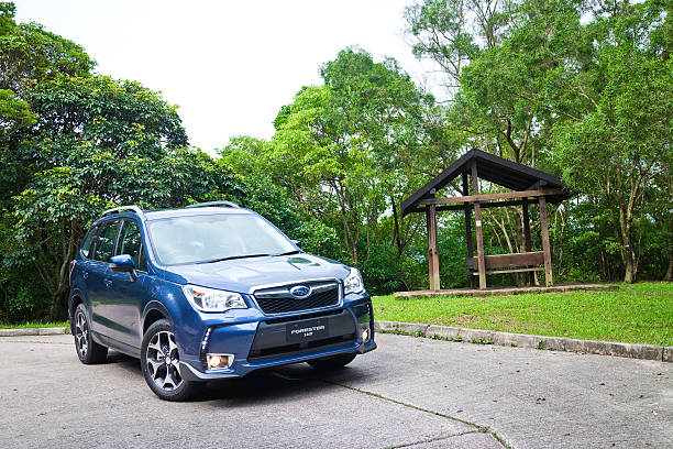 Subaru Forester 2014 Option Test Drive on May 12 2014 Hong Kong, China - May 12, 2014 : Subaru Forester 2014 Option Engine Room on May 12 2014 in Hong Kong. forester stock pictures, royalty-free photos & images
