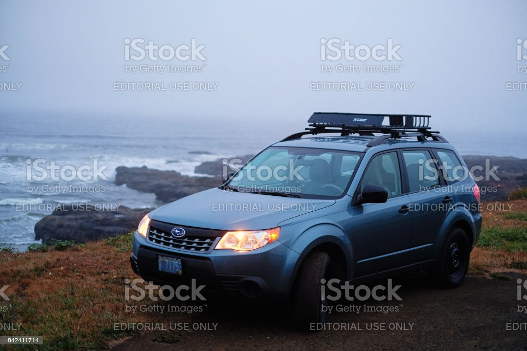 2012 Subaru Forester along Oregon coast