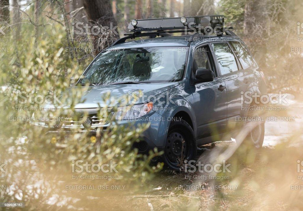 Foto De Subaru Forester Offroad No Bosque E Mais Fotos De Stock De 4x4 Istock